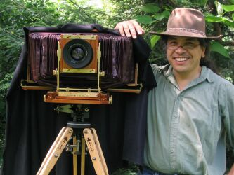 "Emile de Leon with his Wisner 7""x17"" LF Camera"