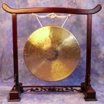 Rosewood finish hand-carved Gong Stand - SMALL