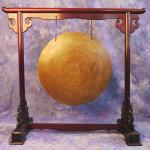 Rosewood finish hand-carved Gong Stand - MEDIUM